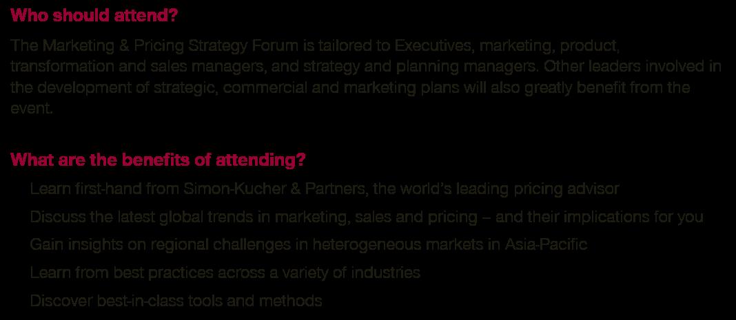 New Zealand Marketing & Pricing Strategy Forum