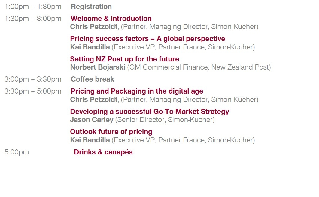 New Zealand Marketing & Pricing Strategy Forum