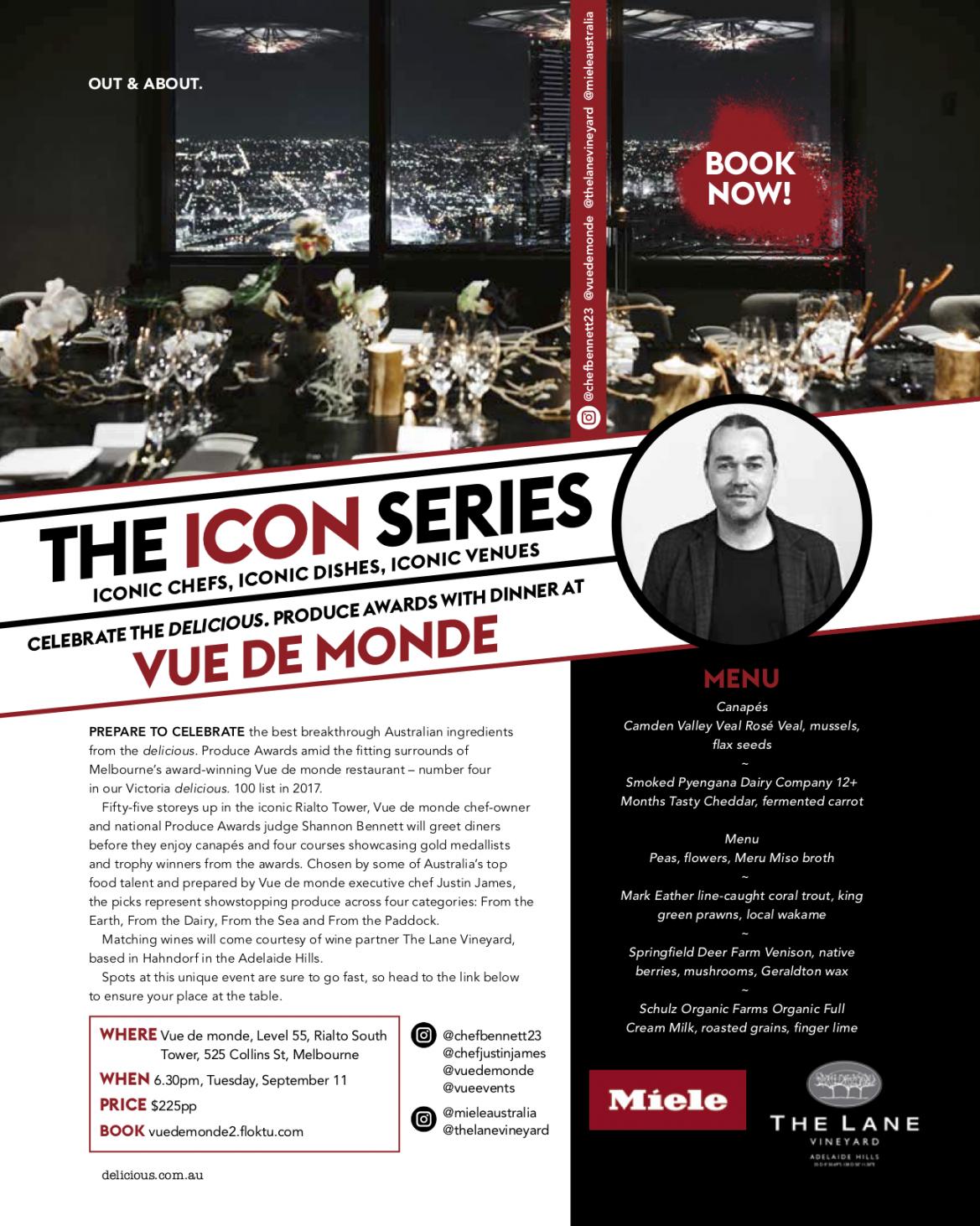 ICONS series @ Vue De Monde