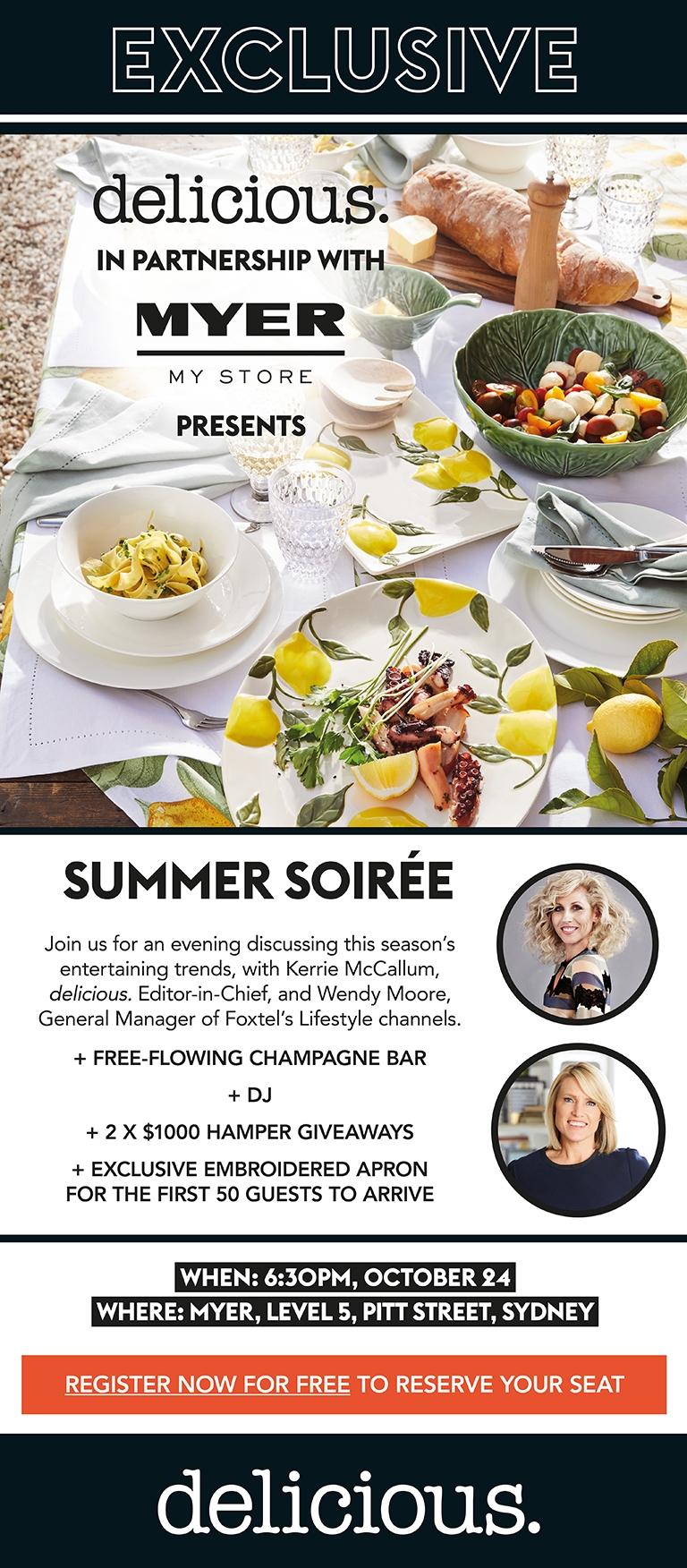 Myer x delicious - Summer Soirée