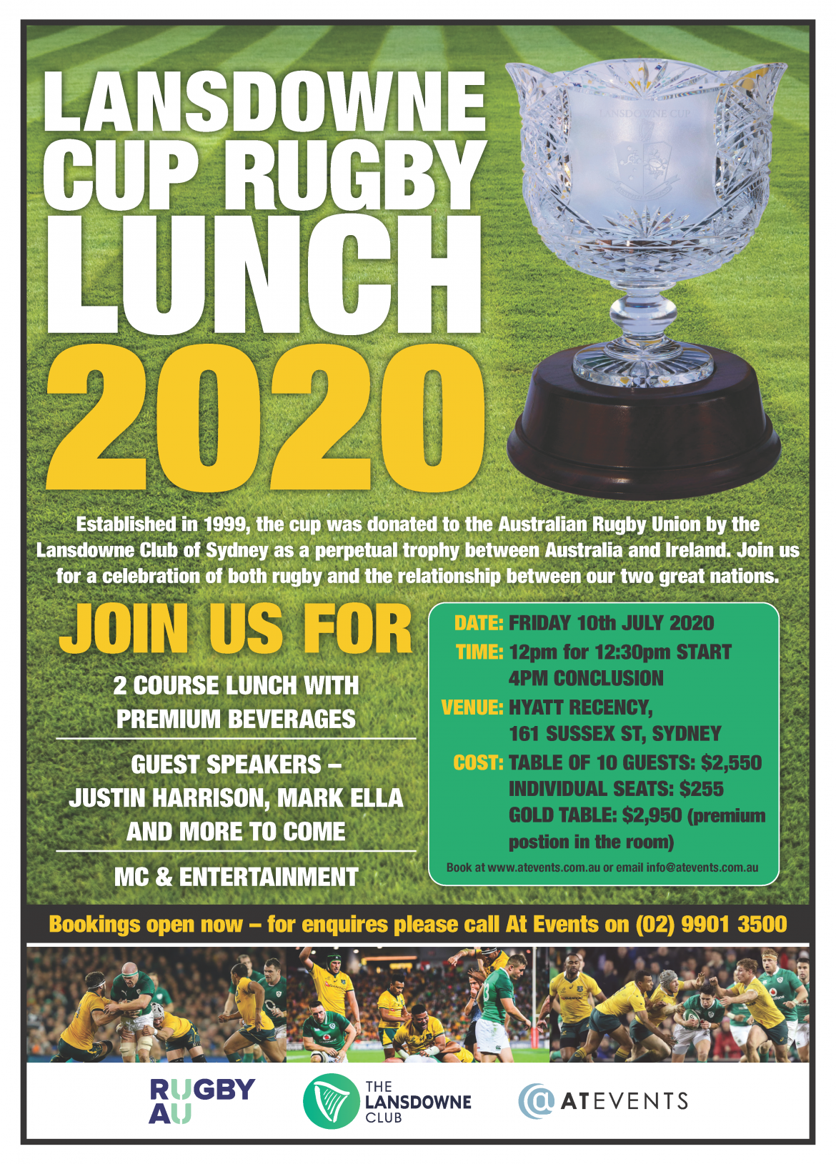 Lansdowne Cup Rugby Lunch 2020